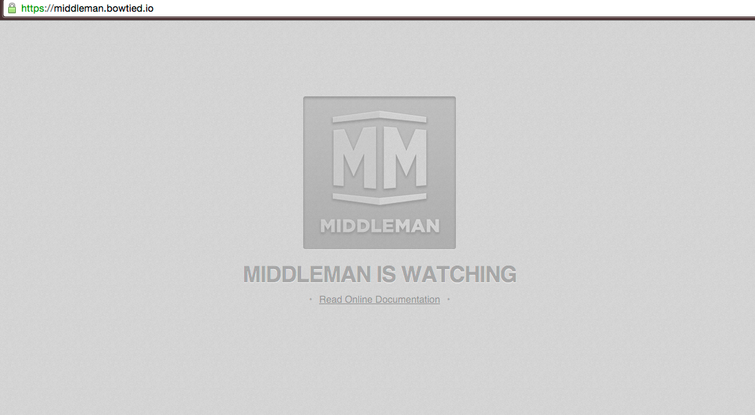 Middleman Splash